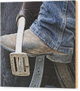 These Boots Are Made For Working Wood Print