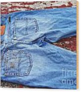 These Old Jeans Wood Print