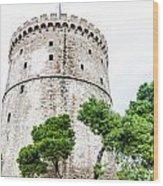 Thessaloniki Tower. Wood Print by Slavica Koceva