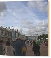 They Come To Catherine Palace - St. Petersburg - Russia Wood Print