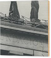 They Don't Like Them Any More; Peron Statues - Covered In Wood Print
