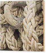 Braided Rope With Eyelet Wood Print