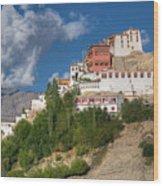 Thiksay Monastery Ladakh Jammu And Kashmir India Wood Print