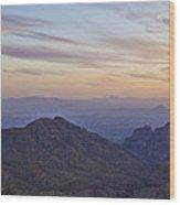 Thimble Peak At Sunset Wood Print