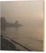 Thin Fog And Sunshine Wood Print