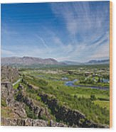 Thingvellir Iceland Wood Print