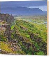 Thingvellir National Park Rift Valley Wood Print