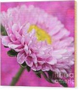 Think In Pink Wood Print