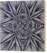 Thinkin Green Wood Print