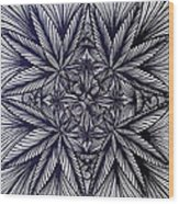 Thinkin Green Wood Print by Sarah Yencer