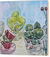 Thinking Of Cezanne Green Wood Print