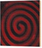 Thinking Red Wood Print