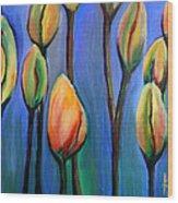 Thinking Spring Wood Print