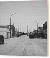 third avenue main street through Kamsack Saskatchewan Canada Wood Print by Joe Fox