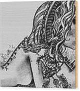 Third Eye Wood Print by Nina Schmidtke