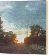 Third Sunset Wood Print