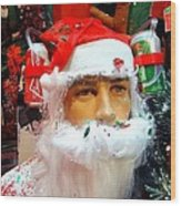Thirsty Santa Wood Print