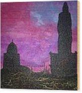 Thiruvalluvar Statue In Kanyakumari Wood Print