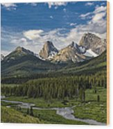 This Is Alberta No.27 - Spray Valley Peaks Wood Print