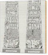This Obelisk Of Black Marble  Was Found Wood Print