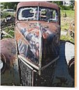This Old Truck Wood Print by Gary Perron