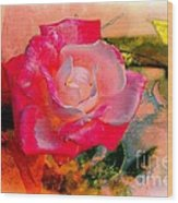 This Rose Reminds Me Of You Wood Print
