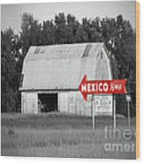 This Way To Mexico Wood Print