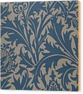 Thistle Design Wood Print