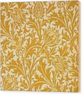Thistle Wallpaper Design, Late 19th Wood Print
