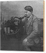 Thomas Alva Edison 1892 Wood Print