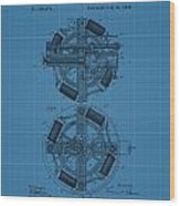 Thomas Edison Blueprint Phonograph Wood Print