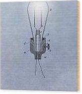 Thomas Edison Electric Lamp Patent Wood Print
