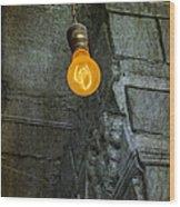 Thomas Edison Lightbulb Wood Print