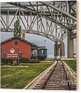 Thomas Edison Museum And Rr Track Wood Print