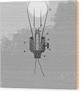 Thomas Edison Patent Wood Print
