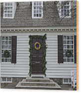 Thomas Everard House Williamsburg Wood Print