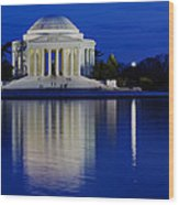 Thomas Jefferson Memorial Wood Print by Andrew Pacheco