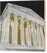 Thomas Jefferson Memorial At Night  Wood Print