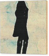 Thomas Jefferson Silhouette 1800 Wood Print by Padre Art
