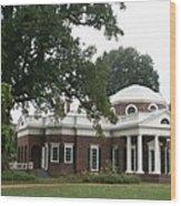 Thomas Jeffersons Monticello Wood Print