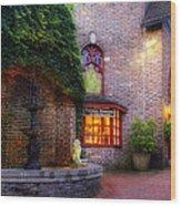 Thomas Kinkade At The Village In Gatlinburg Wood Print
