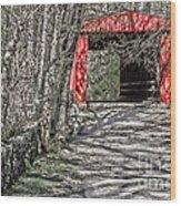 Thomas Mill Covered Bridge Wood Print