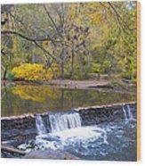 Thomas' Mill Dam Wood Print