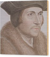 Thomas More Wood Print by Hans Holbein the Younger