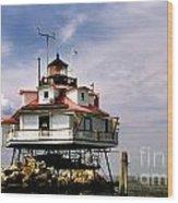 Thomas Point Shoal Lighthoues Wood Print