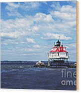 Thomas Point Shoal Lighthouse Wood Print