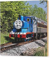 Thomas Visits The Cvnp Wood Print