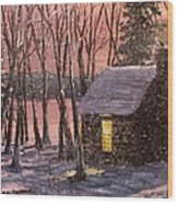 Thoreau's Cabin Wood Print