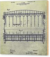 Thoroughbred Race Starting Gate Patent Wood Print