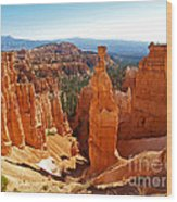 Thor's Hammer At Bryce Canyon Wood Print by Alex Cassels